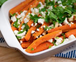 Ofen-Karotten mit Fetakäse