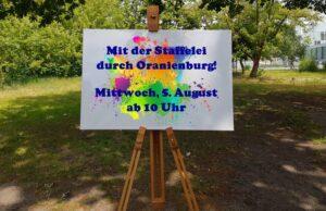 Read more about the article Ferienaktion/ Mit der Staffelei durch Oranienburg