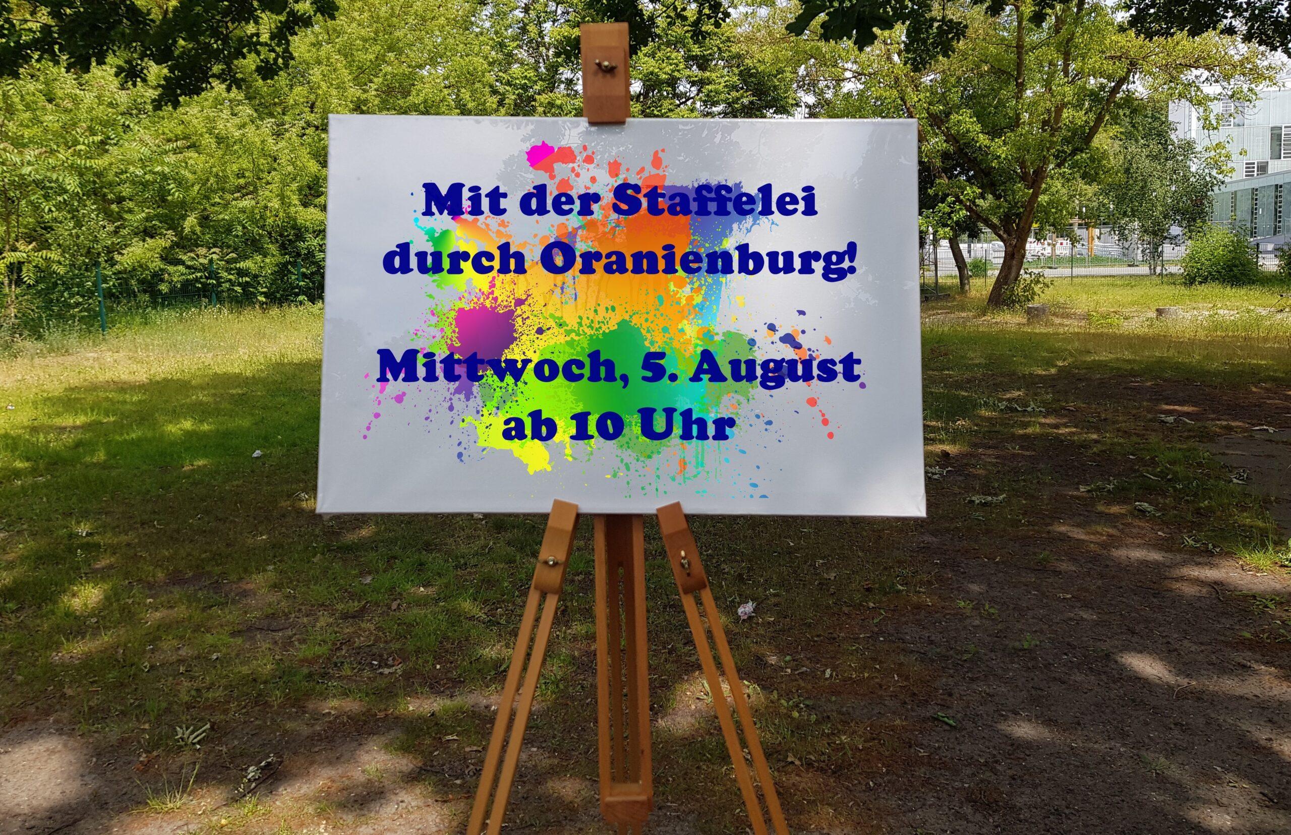 Ferienaktion/ Mit der Staffelei durch Oranienburg
